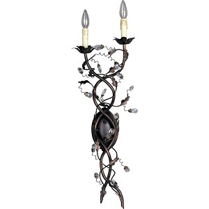 "Elegante Collection 2-Light 34"" Oil Rubbed Bronze Wall Sconce 2858OI"
