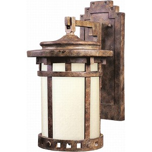"Santa Barbara Collection 1-Light 16"" Sienna Outdoor Wall Light with Mocha Glass 3144MOSE"