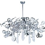 "Tempest Collection 8-Light 17"" Polished Nickel Chandelier with Clear Glass 39844PN"