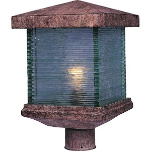 "Triumph Collection 1-Light 15"" Earth Tone Outdoor Pier/Post Mount with Clear Glass 48735CLET"