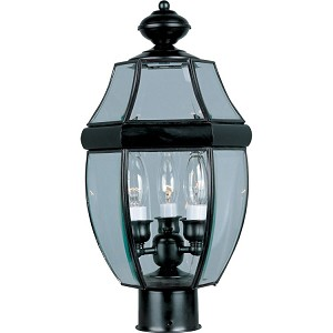 "South Park Collection 3-Light 18"" Burnished Outdoor Pier/Post Mount with Clear Glass 6097CLBU"