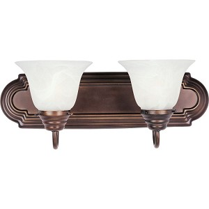 "Essentials Collection 2-Light 18"" Oil Rubbed Bronze Vanity with Marble Glass 8012MROI"