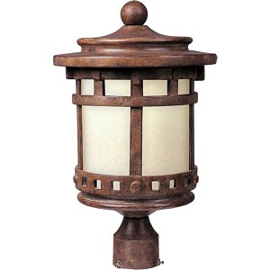 "Santa Barbara Collection 1-Light 18"" Sienna Outdoor Pier/Post Mount with Mocha Glass 85037MOSE"