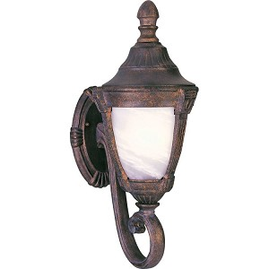 "Wakefield Collection 1-Light 8"" Empire Bronze Outdoor Wall Light with Marble Glass 85072MREB"