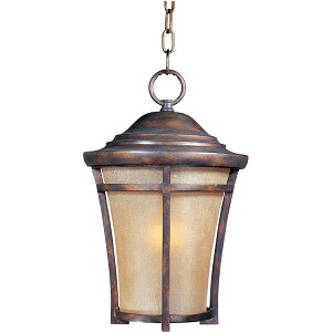 "Balboa Collection 1-Light 12"" Copper Oxide Outdoor Hanging Light with Golden Frost Glass 85167GFCO"