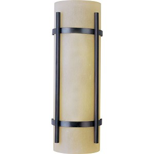 "Luna Collection 2-Light 7"" Oil Rubbed Bronze Outdoor Wall Light with Wilshire Glass 85219WSOI"