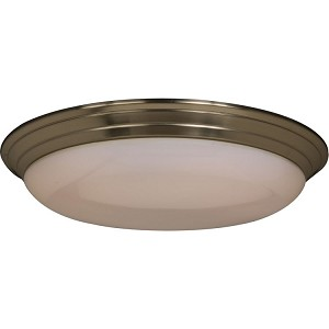 "Classic Collection 2-Light 22"" Satin Nickel Flush Mount with White Glass 87017SN"