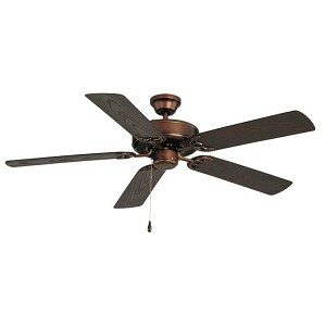 "Basic-Max Collection 52"" Oil Rubbed Bronze Outdoor Ceiling Fan 89915OI"