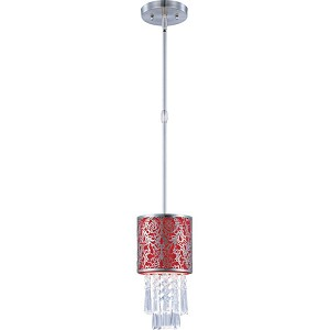 "Rapture Collection 1-Light 12"" Satin Nickel Mini Pendant 92293RDSN"