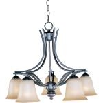 "Madera Collection 5-Light 20"" Oil Rubbed Bronze Chandelier with Wilshire Glass 10176WSOI"