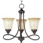 "Nova Collection 3-Light 18"" Oil Rubbed Bronze Mini Chandelier with Wilshire Glass 11042WSOI"
