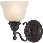 "Soho Collection 1-Light 6"" Oil Rubbed Bronze Wall Sconce with Soft Vanilla Glass 11056SVOI"
