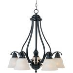 "Linda Collection 5-Light 26"" Black Chandelier with Ice Glass 11815ICBK"