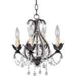 "Katherine Collection 4-Light 15"" Oil Rubbed Bronze Mini Chandelier 20052OI"