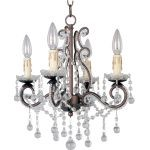 "Katherine Collection 4-Light 16"" Oil Rubbed Bronze Mini Chandelier 20054OI"