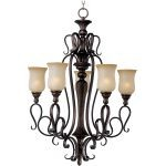 "Sausalito Collection 5-Light 39"" Filbert Chandelier with Mocha Cloud Glass 21125MCFL"