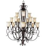 "Sausalito Collection 15-Light 61"" Filbert Chandelier with Mocha Cloud Glass 21127MCFL"