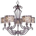 "Mondrian Collection 5-Light 27"" Umber Bronze Chandelier 21155WHUB"