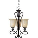 "Infinity Collection 3-Light 25"" Oil Rubbed Bronze Mini Chandelier with Wilshire Glass 21304WSOI"