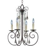 "Adriana Collection 4-Light 24"" Urban Rustic Chandelier 22204UR"