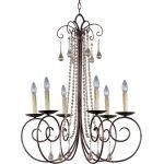 "Adriana Collection 6-Light 33"" Urban Rustic Chandelier 22206UR"