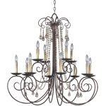 "Adriana Collection 12-Light 36"" Urban Rustic Chandelier 22209UR"