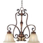 "Fremont Collection 3-Light 20"" Platinum Dusk Chandelier with Wilshire Glass 22244WSPD"