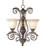 "Beaumont Collection 3-Light 22"" Golden Fawn Mini Chandelier with Cafe Glass 24108CFGF"