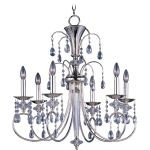 "Montgomery Collection 6-Light 30"" Polished Nickel Chandelier with Clear Crystal 24306CLPN"