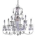 "Montgomery Collection 9-Light 34"" Polished Nickel Chandelier with Clear Crystal 24307CLPN"