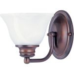 "Malibu Collection 1-Light 6"" Oil Rubbed Bronze Wall Sconce with Marble Glass 2686MROI"