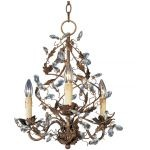 "Elegante Collection 3-Light 18"" Etruscan Gold Mini Chandelier 2850EG"