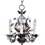 "Elegante Collection 3-Light 14"" Oil Rubbed Bronze Mini Chandelier 2855OI"