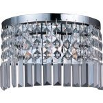 "Belvedere Collection 3-Light 11"" Polished Chrome Wall Sconce with Beveled Crystal 39808BCPC"