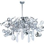 "Tempest Collection 8-Light 17"" Polished Nickel Chandelier with Clear Glass 39844PN/CRY151"