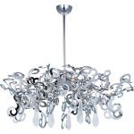 "Tempest Collection 9-Light 19"" Polished Nickel Chandelier with Clear Glass 39846PN/CRY151"