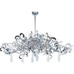 "Tempest Collection 9-Light 17"" Polished Nickel Chandelier with Clear Glass 39847PN/CRY152"