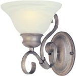 "Pacific Collection 1-Light 7"" Pewter Wall Sconce with Marble Glass 8021MRPE"