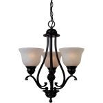 "Linda Collection 3-Light 21"" Oil Rubbed Bronze Mini Chandelier with Wilshire Glass 85804WSOI"