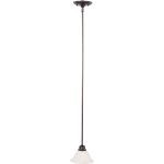 "Marin Collection 1-Light 5"" Oil Rubbed Bronze Mini Pendant with Marble Glass 91066MROI"