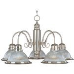 "Builder Basics Collection 5-Light 14"" Satin Nickel Chandelier with Clear Glass 91195CLSN"