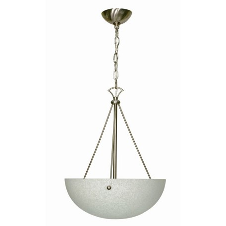 "South Beach Collection 3-Light 20"" Brushed Nickel Pendant with Water Spot Glass 60-133"