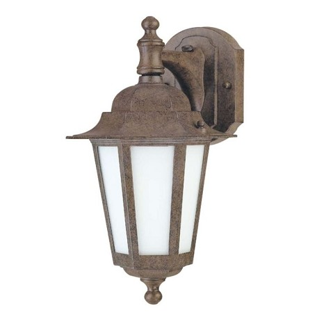 "Cornerstone ES Collection 1-Light 13"" Old Bronze Energy Efficient Outdoor Wall Light with Satin White Glass 60-2205"