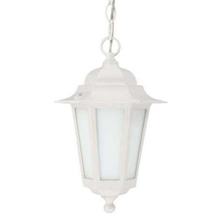 "Cornerstone ES Collection 1-Light 12"" White Energy Efficient Outdoor Hanging Lantern with Satin White Glass 60-2207"