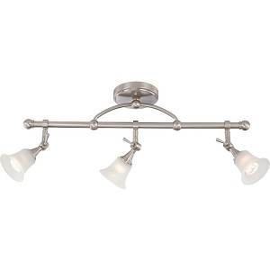 "Surrey Collection 3-Light 12"" Brushed Nickel Track Light with Frosted Glass 60-4154"