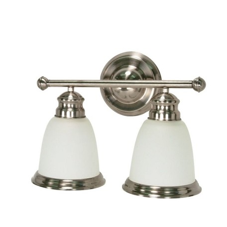 "Palladium Collection 2-Light 11"" Smoked Nickel Vanity with Satin Frosted Glass 60-623"