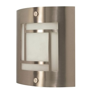 "Nuvo Collection 1-Light 10"" Brushed Nickel Vanity with Frosted Glass 60-948"