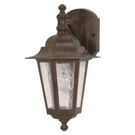 "Cornerstone Collection 1-Light 13"" Old Bronze Outdoor Wall Light with Clear Seed Glass 60-989"