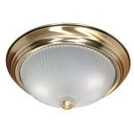 "Nuvo Collection 2-Light 5"" Antique Brass Flush Mount with Frosted Swirl Glass 60-238"