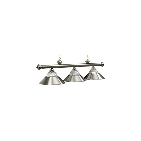 "Halophane Collection 3-Light 54"" Stainless Billiard Fixture B48-RIB ST"